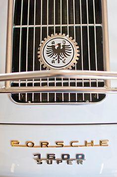 Porsche 1600 Super Emblem by Jill Reger Porsche Sports Car, Porsche Models, Porsche 356 Speedster, Porsche Boxster, Car Badges, Car Logos, Car Hood Ornaments, Motorcycle Wallpaper, Badges