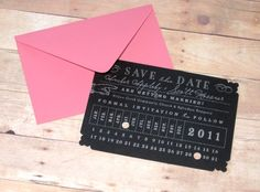 Punch card save the date, Etsy seller LetterBoxInk, $3
