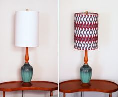 How to cover lampshades with fabric | How About Orange = Maybe I don't need to buy new lamp shades to replace the dingy 30-year-old shades in the family room.