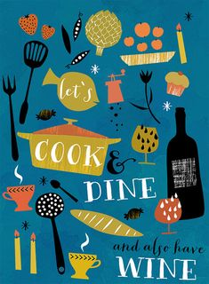 Lets Cook And Dine Art Print