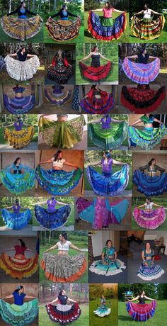 Custom Order 10 yd. Patchwork Tiered Skirt-up to 37 inches in length-BellyDance,Folkloric,Boho,Gothic,Steampunk,Pirate,Vampire. $85.00, via Etsy.