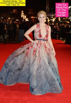 Elizabeth Banks Mockingjay Part 1 Premiere London -  Elie Saab Couture