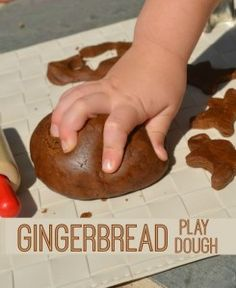 Play Dough Recipe for Gingerbread Play Dough! Great for christmas crafts and it smells delicious!Recipe for Gingerbread Play Dough! Great for christmas crafts and it smells delicious! Christmas Crafts For Kids, Christmas Themes, Christmas Fun, Holiday Crafts, Holiday Fun, Christmas Projects, Christmas Artwork, Christmas Cactus, Kid Projects
