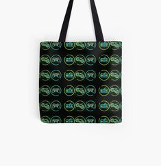Retro Videos, Retro Video Games, Large Bags, Small Bags, Cotton Tote Bags, Reusable Tote Bags, Neon Bag, Tote Pattern, Medium Bags