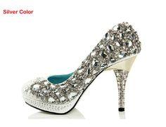 98.00$  Watch here - http://alihnk.shopchina.info/1/go.php?t=2020543954 - High Heel Gorgeous Rhinestone Bridal Dress Shoe Wedding Dress Shoes  Crystal Sparkling Lady Party Prom Dress Shoes Formal Shoes 98.00$ #aliexpresschina