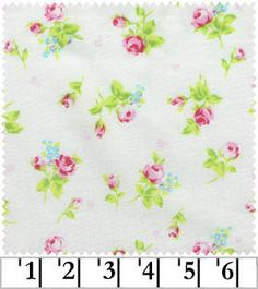 Flower Sugar 2013 by Lecien  Pink Roses on Cream by agardenofroses, $11.00