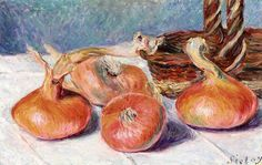 Alfred Sisley - Still Life with Onions