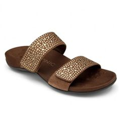 c2867369424a Bronze Samoa Leather Sandal - Women by Vionic with Orthaheel Technology