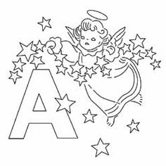 Pattern Detail For A Angel From The Alphabet Monograms Library This