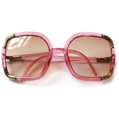 Exquisite Vintage Ted Lapidus Paris Pink Gold Sunglasses