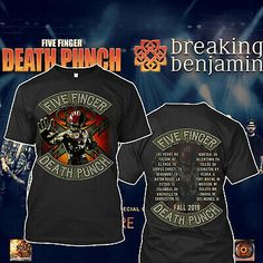 Spiral Unisex Metal T Shirt Five Finger Death Punch ASSASSIN Guns Skull All Size