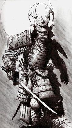 samurai sketch tattoo - Google Search                                                                                                                                                      More