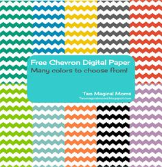 Two Magical Moms: FREE Chevron Digital Papers