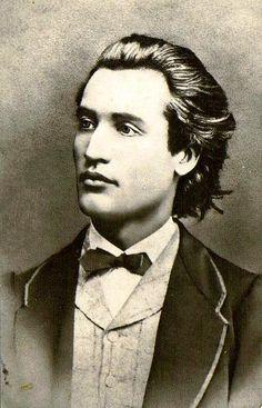 Mihai Eminescu, 1860.  Romanian poet.
