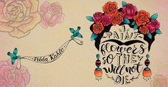 frida kahlo famous creative quote by #korolevtseva #katerintseva illustration hand drawn copic markers calligraphy lettering portrait | Frida | Pinterest