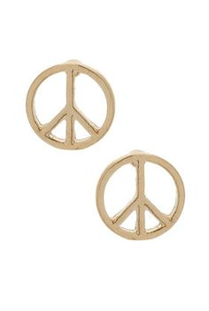 peace sign studs...too bad they're out of stock ):