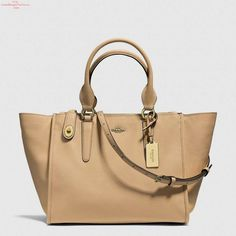 Trendy Women's Bags : Picture DescriptionOn SALE at OFF! crosby carryall by COACH. Updated in Crossgrain Leather with a subtle texture and durable finish, the structured yet spacious Crosby carryall h. Coach Handbags Outlet, Coach Purses, Purses And Handbags, Coach Bags, Coach Outlet, Satchel Handbags, Leather Satchel, Pebbled Leather, Leather Handbags