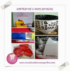 Sorteio de aniversário de 2 anos do blog http://www.anaclaudianacozinha.com/2014/04/aniversario-de-2-anos-do-blog-e-sorteio.html