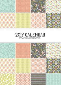 2017 Calendar | This free printable 2017 calendar is stylish enough to be art! 5x7 printable monthly calendar is yours to download. Click the photo to grab yours. TodaysCreativeLife.com