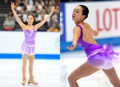 Purple/Lilac Figure Skating / Ice Skating dress inspiration for Sk8 Gr8 Designs.