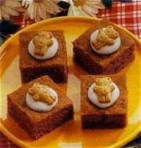 "Teddy Carrot Bars: These carrot bars (or any dessert with Teddy Grahams on top!) go great with our kids' ""Teddy Bear Picnic"" theme for the night."