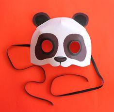 Print paper Panda mask. Animal mask + DIY homemade costume ideas!