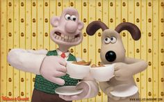 Wallace and Gromit – animated plasticine characters.