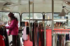 The Dress Shop is a double- decker vintage haven on wheels! #MobileRetail #Creative