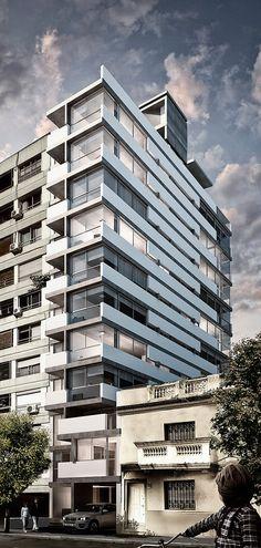 Collective Housing Building in Montevideo, Uruguay