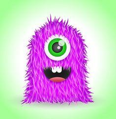 cute furry vector monster-Cartoon Characters