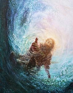picture of jesus christ with his hand reaching into the water to save peter reaching through the water the hand of god painting Images Du Christ, Pictures Of Jesus Christ, Pictures Of God, Jesus Christ Lds, Savior, God Jesus, Pictures Of Hands, Jesus Help, Lds Art