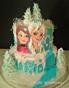 Elsa und Anna Birthday Cake - Cake by Süße Harmonie