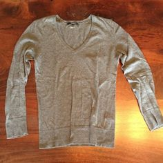 Grey cotton classic sweater sz XS Gap Great everyday 100% cotton sweater. Second picture is most accurate of color. GAP Sweaters Crew & Scoop Necks