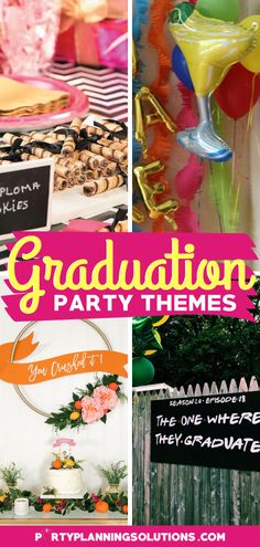 Are you feeling the stress of planning a graduation party for your child or loved one? Do you want it to be the best party ever, but aren't sure where to start? If that's the case, then we have great news for you! PIN NOW for over 40 Awesome Graduation Party Theme Ideas #graduationpartyideas #graduationparty #partyideas #partyplanning #partythemes #gradparty