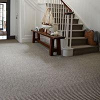 Grey Carpet On Stairs Hall Flooring Pattern