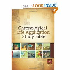 Chronological Life Application Study Bible NLT (New Living Translation)---This is a great Bible for study, there is so much information in it and great for if you want to read the Bible all the way through in chronological order.