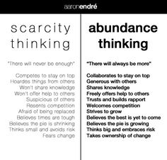 Abundance and Scarcity Consciousness. This could change your life. Seriously.