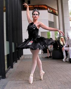 crazy amazing black swan costume