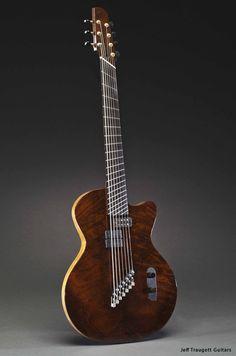 Jeff Traugott's 7-string multi-scale build for guitarist Charlie Hunter.