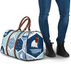 Waterproof Fabric, Travel Bags, Gym Bag, Sailing Boat, The Originals, Navy, Blue, Shoulder Strap, Traveling