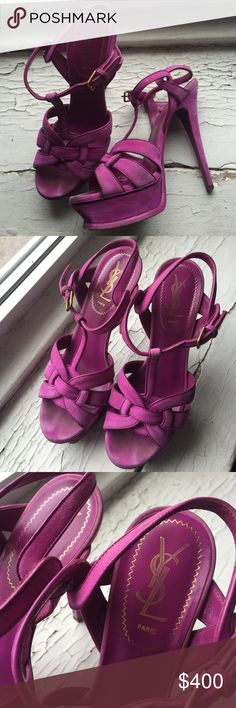 Ysl tribute in purple suede Worn only a handful of times Yves Saint Laurent Shoes