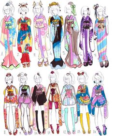 Kimono designs -CLOSED- by Guppie-Adopts on deviantART