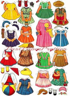 Vintage Paper Dolls Vicky Has A Closet Full of Pretty Clothes 1967 Printable PDF Instant Digital Dow Pretty Outfits, Pretty Dresses, Pretty Clothes, Girls Boutique, Boutique Clothing, Sunday Clothes, Paper Dolls Printable, American Doll Clothes, French Girls