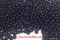 8/0 Seed Beads, Metal, Size 8, BLACK Plated, 2x3mm, Brass Spacers, Made in the USA, Lead Free, Lot Size 18 to 36 grams, #1424