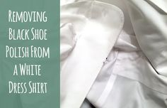 How to remove black shoe polish from a white dress shirt #laundry #stainremoval
