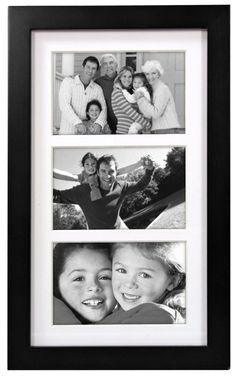 Malden Linear Wood Matted 4x6 Collage Black Picture Frame - Amazon
