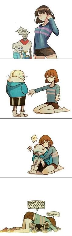 Sans x Frisk grown up