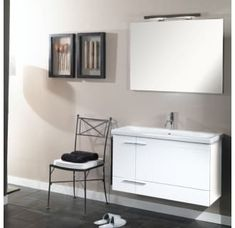 Buy the Nameeks Iotti White Glossy White Direct. Shop for the Nameeks Iotti White Glossy White Iotti Wall Mounted / Floating Vanity Set with Wood Cabinet, Ceramic Top, 1 Drop-In Sink and 1 Mirror and save. Drop In Sink, Installing Cabinets, Wood Cabinets, Modern Bathroom Design, Nameeks, Floating Vanity, Wall Mounted Vanity, Vanity Set, Modern Bathroom Vanity