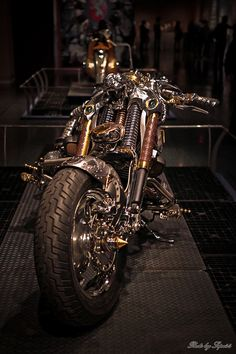Steampunk Bike ~Designed built by Chris Coftis/ Pulsar Project of Athens, Greece.  Photos by Sepe44
