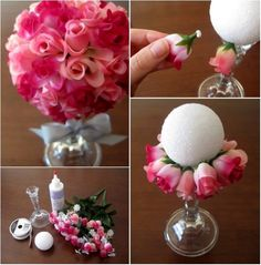 DIY Simple Flower-Ball-Bouquet